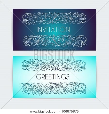Template invitation and greetings.