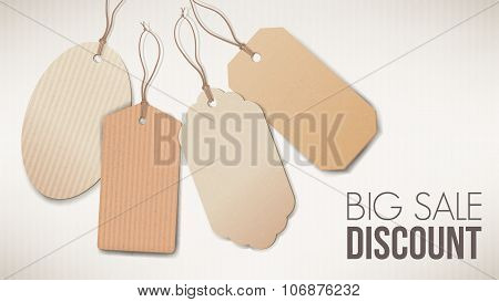 Big Sale Banner With Tags