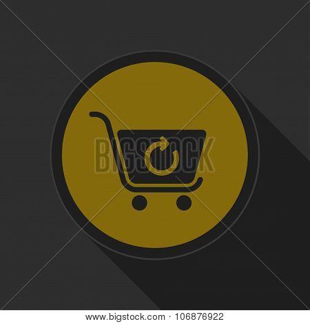Dark Gray And Yellow Icon - Shopping Cart Refresh