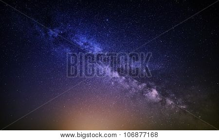 Milky Way Galaxy Background Pattern