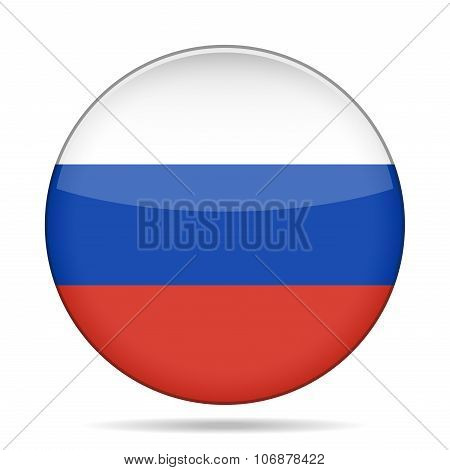 Button With Flag Of Russia