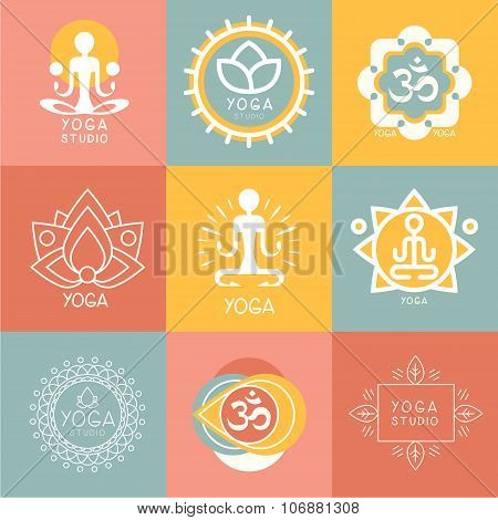 Set of Yoga and Meditation Symbols
