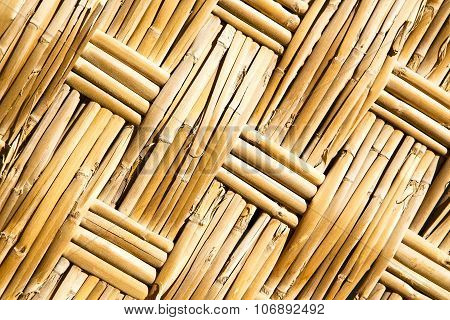 Texture Bamboo In Morocco Africa