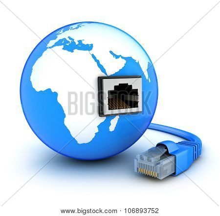 Abstract Earth And Cable