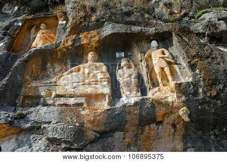 Adamkayalar, Rock Carved Figures, Turkey