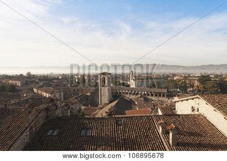 Gubbio Umbria Italy landscape