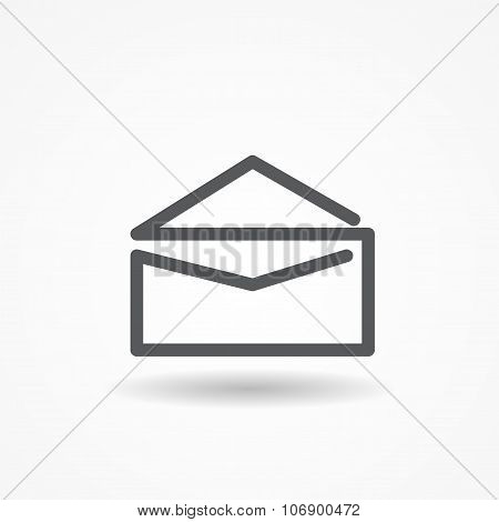 Mail Post Icon Vector Illustration