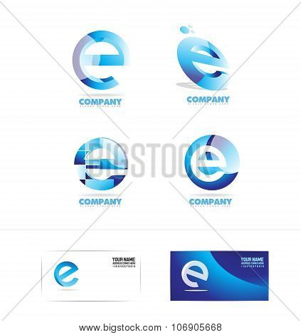 Letter E Logo Icon Set