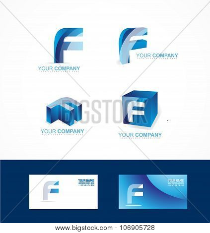 Letter F Logo Icon Set