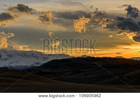 Mountains Sky Sunset Autumn