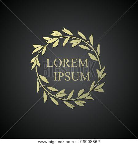 Logo With A Laurel Wreath