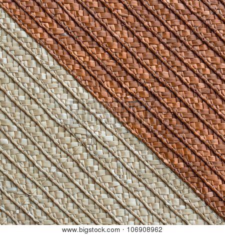 Handcraft Rattan Woven Texture Background