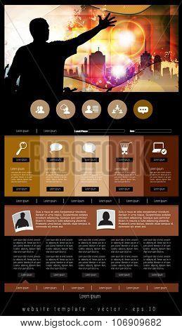 Website layout. Vector