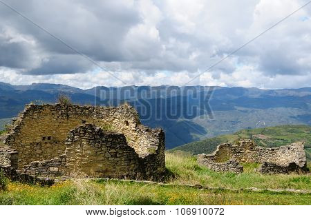 Kuelap Is A Mountaintop Fortress City Near Chachapoyas, Peru,