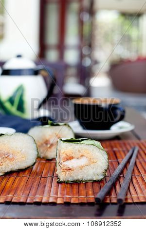Banh chung, Traditional present for Lunar New Year, Vietnamese  dish.