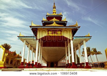 Buddhist Temple at Inle Lake, Myanmar