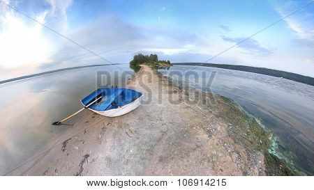 Blue Rowing Boat