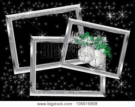 Silver Christmas Frames