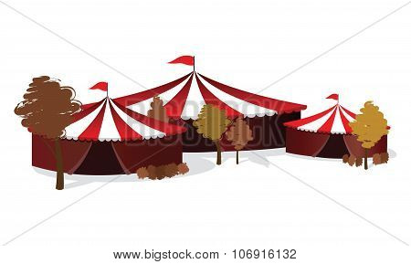 an autumn circus background