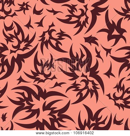 Sharp Brown Seamless  Pattern
