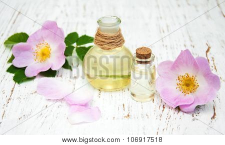 Essential Oil In Glass Bottles