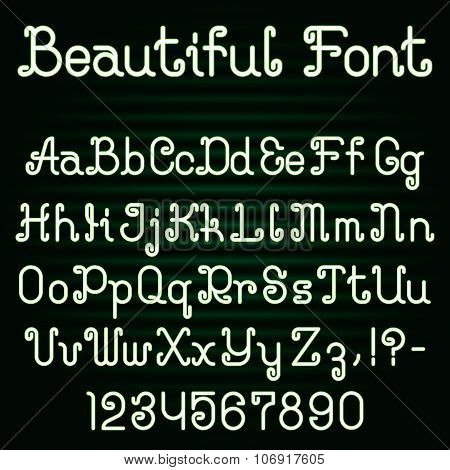 Beautiful curly font