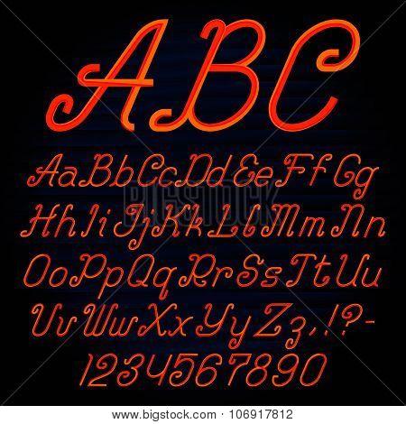 Stripy italic font