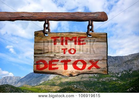 Time To Detox Motivational Phrase Sign