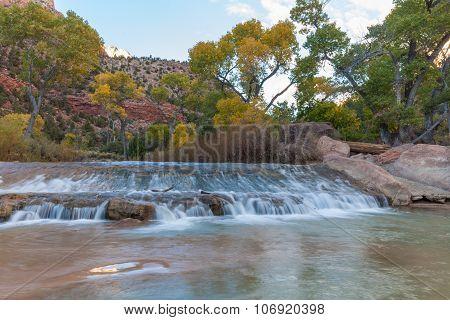 Virgin River Zion N.P. in Fall