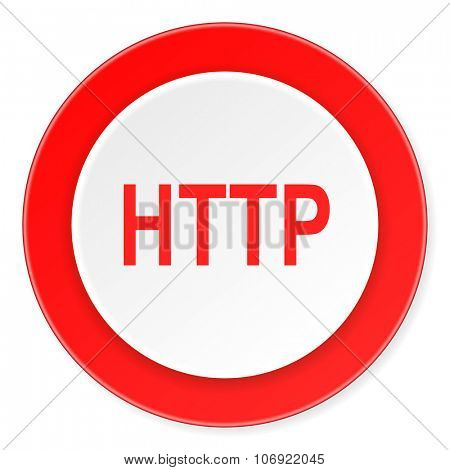 http red circle 3d modern design flat icon on white background