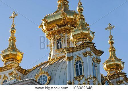 Church in Peterhof, Saint Petersburg, Russia