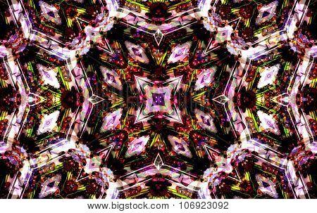 Purple Mandala Of Cornflower Flower Center