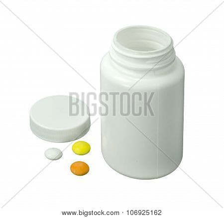 Three Pills With White Jar