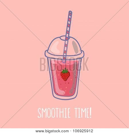 Smoothie time Strawberry