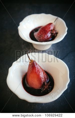 Pears In The Wine