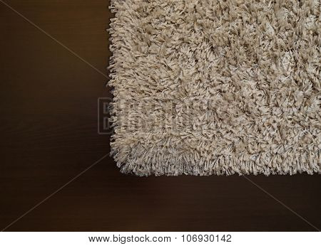 Beige Shaggy Carpet On Wenge Floor