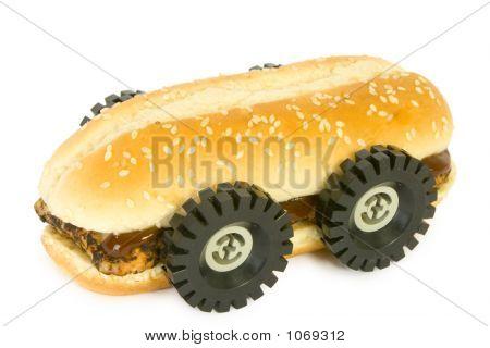 Rib Bbq Sandwich - Fast Food