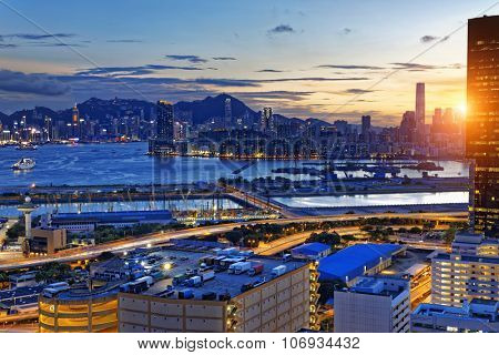 Hong Kong Kowloon at night