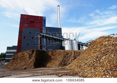 Bio Power Plant Against Blue Sky