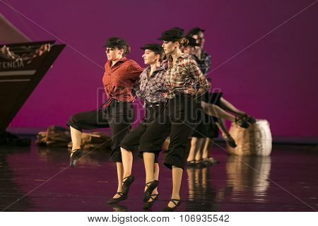 Unidentified Dancers Of Dance School During Performances Ballet State Theatre Of Thessaloniki