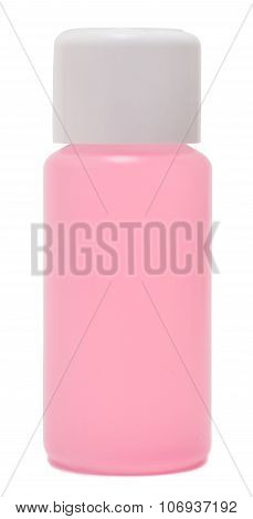 bottle of nail polish remover, isolated white background