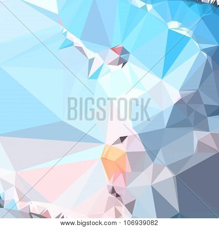 Air Superiority Blue Abstract Low Polygon Background