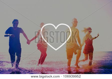 Love Like Passion Romantic Affection Devotion Joy Life Concept