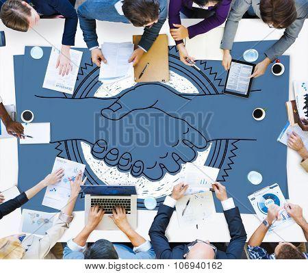 Agreement Greeting Handshake Partnership Team Concept