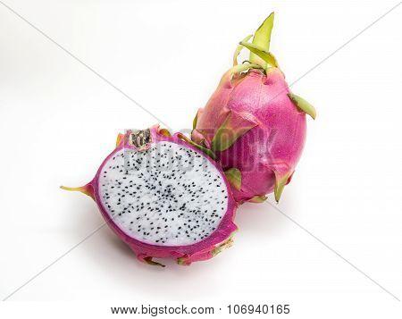 Dragonfruit On White