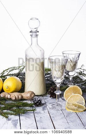 Cream Liqueur With Lemon And Ginger