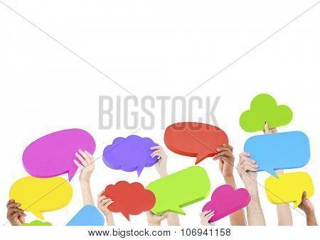 Speech Bubble Social Media Networking Communication Concept