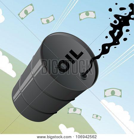 Barrel Of Oil .