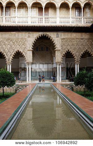 Into the Alcazar Of Seville