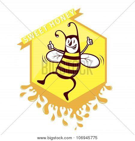 Bee Honey Emblem